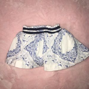 9M Oshkosh Bgosh Blue Floral Skirt